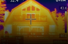 Image infrarouge d'une thermographie